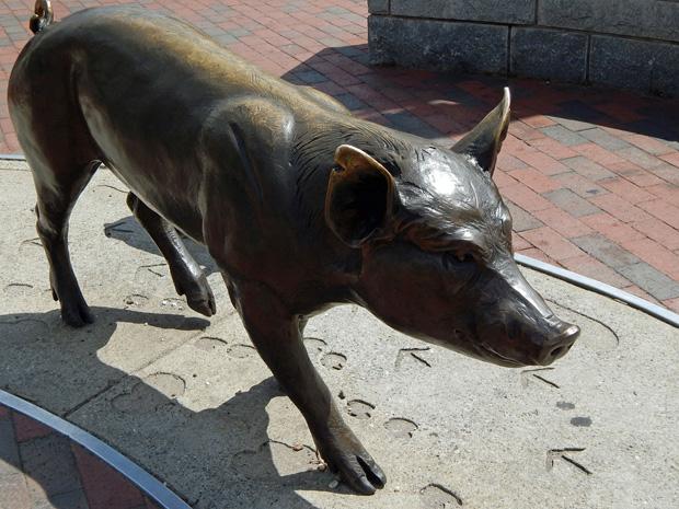 pig sculpture Asheville