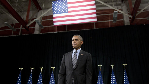 President Obama after discussing his executive actions on immigration Friday at Del Sol High School in Las Vegas.