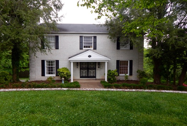Front view of new house