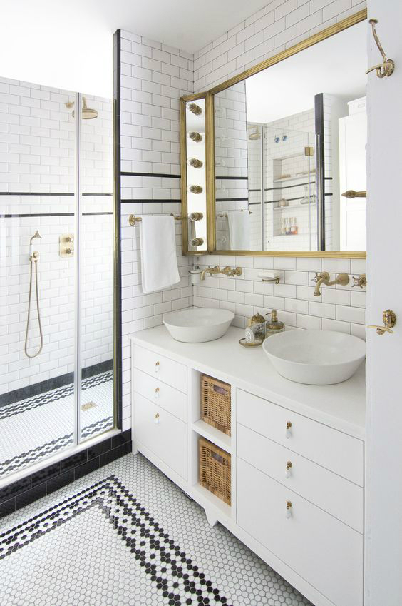 I want to replicate this exact bathroom designed by Espacio En Blanco. Image via Decoholic