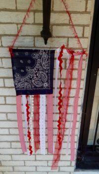 American Ribbon Flag Craft Closeup