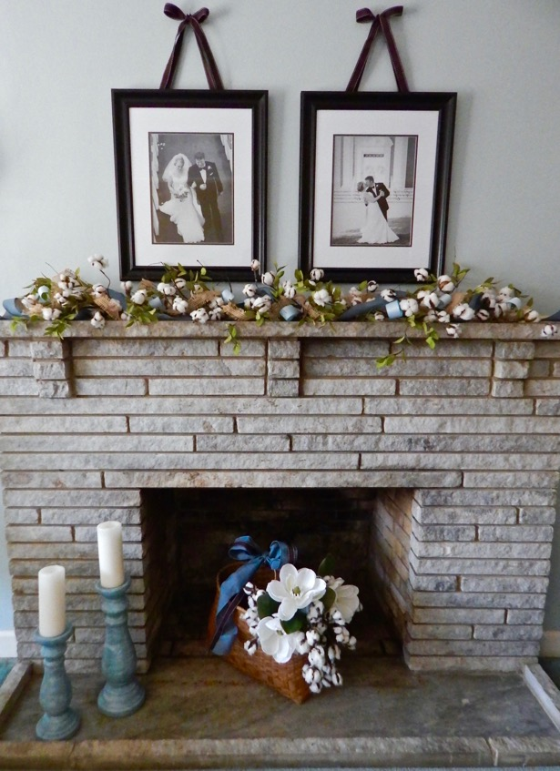 Summer Mantle Decor