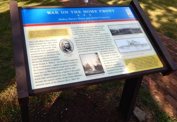 Mabry-Hazen House Interpretative Panel on Civil War. Read about this historic house on penderandpeony.com