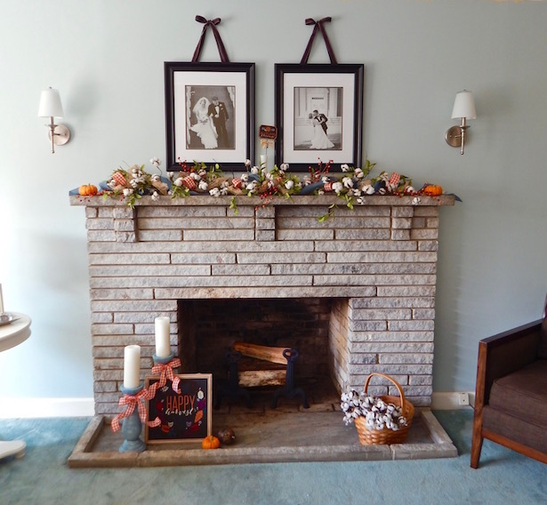 Mantle Decor Fall Full Shot