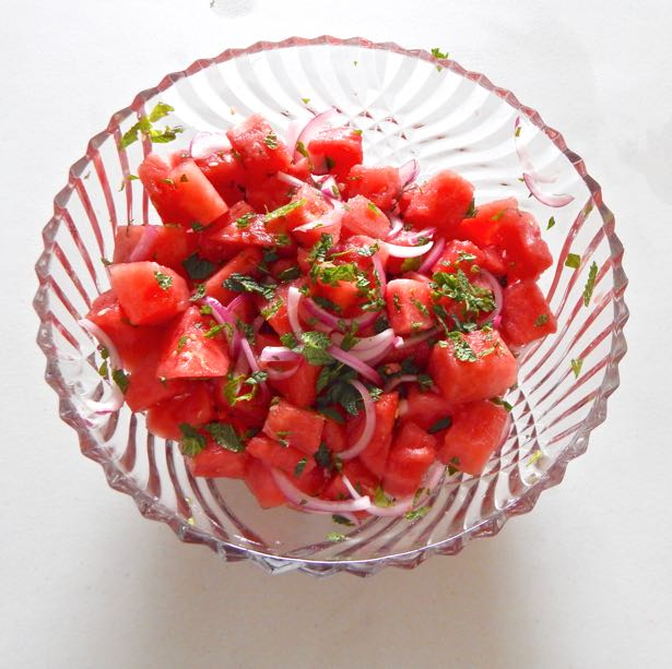 Watermelon Salad with Pickled Onions
