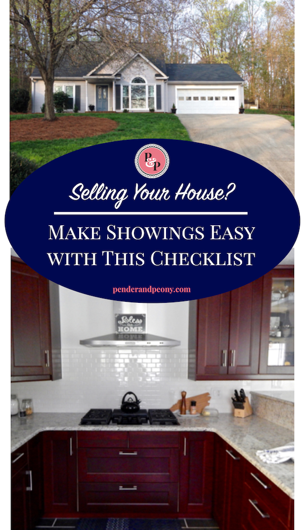 Make showings easier with this Free Printable Checklist! Get it on penderandpeony.com