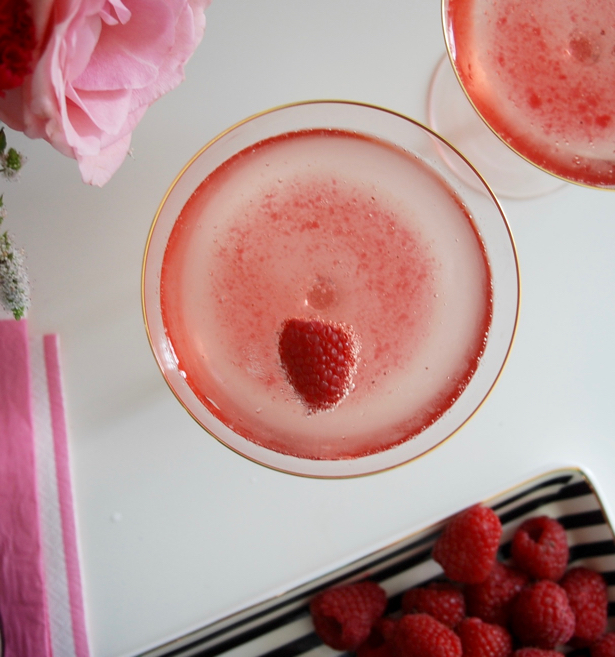 The Blush & Bashful: Champagne Cocktail