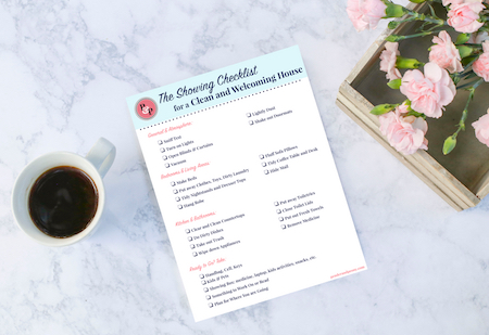 The Showing Checklist for a Clean and Welcoming Home. Get the Printable on penderandpeony.com