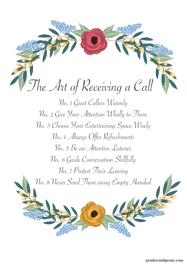 The Art of Receiving a Call - learn the proper etiquette to host a call on penderandpeony.com