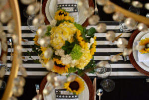Black and White Themed Tablescape
