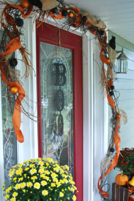 Transition your porch from fall decor to halloween in just 3 easy steps.