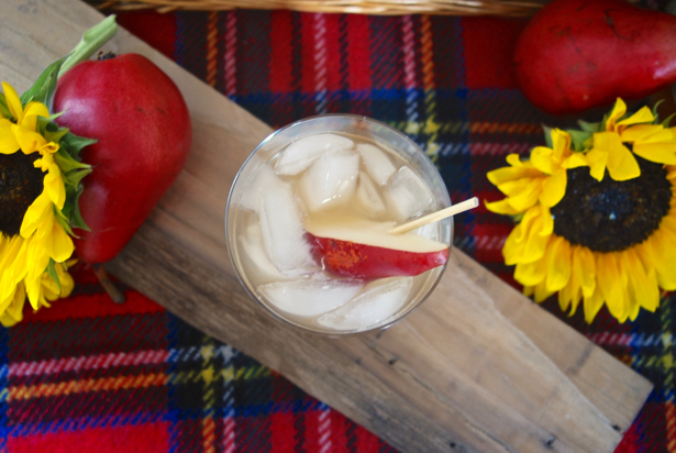 A Fizzy Mulled Pear - this cocktail tastes like fall in a glass. You'll love this fall drink over ice with a splash of ginger ale just use your favorite whiskey or bourbon. Get the recipe on Pender & Peony
