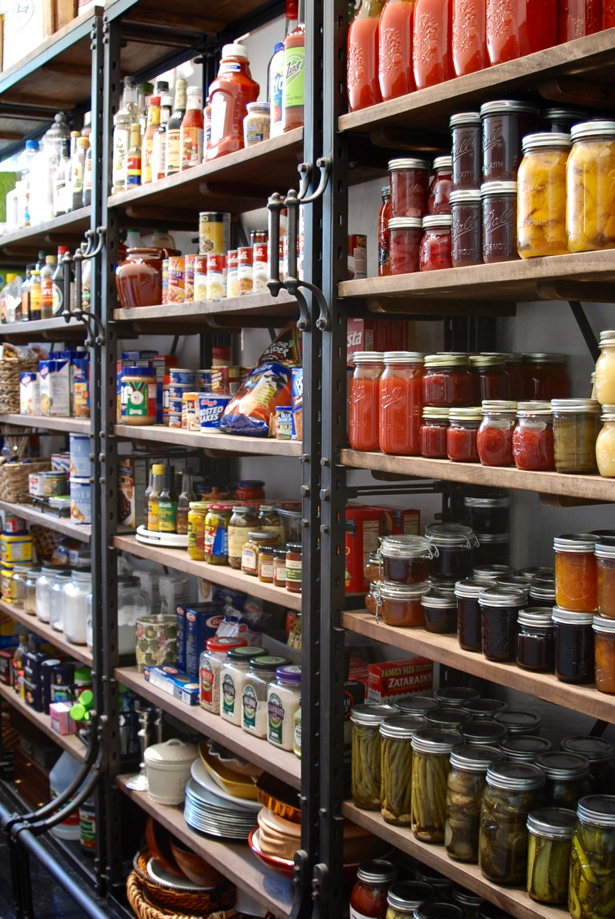 7 Tips to a well-stocked and organized pantry. Make eating home cooked, healthy meals easier and quicker with these pantry organization tips. Plus get my southern pantry essentials list.