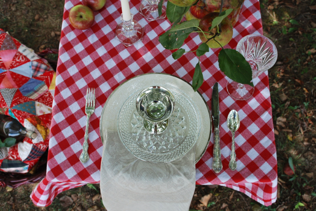 Feel inspired by this rustic and refined orchard tablescape.