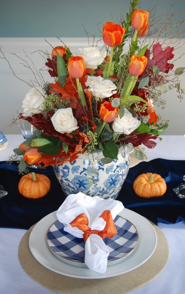 blue-orange-fall-centerpiece