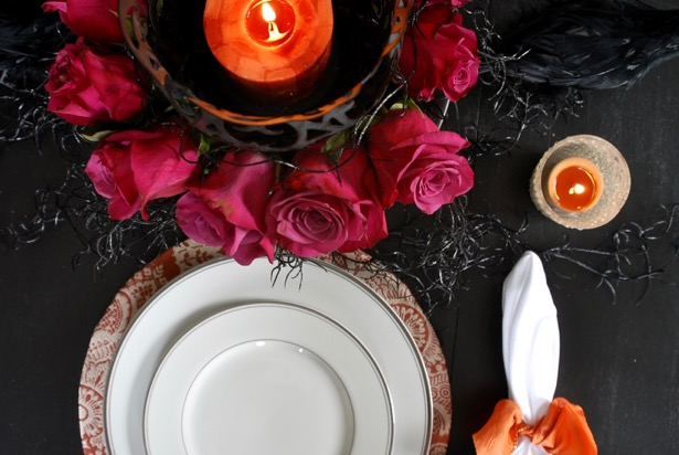 Halloween dessert party tablescape