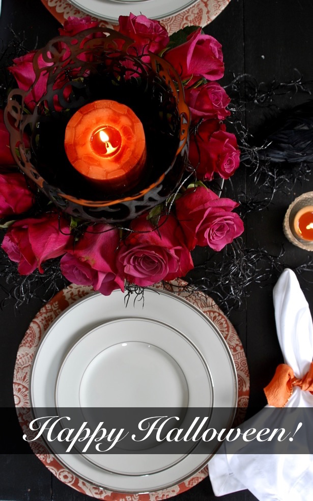 Halloween tablescape placesetting