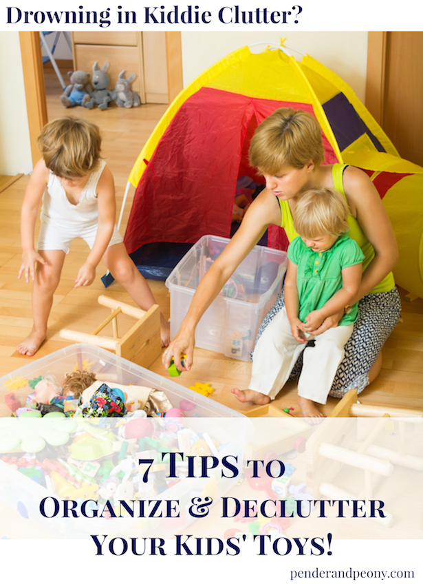 Use these 7 tips to organize and declutter your kids' toys.