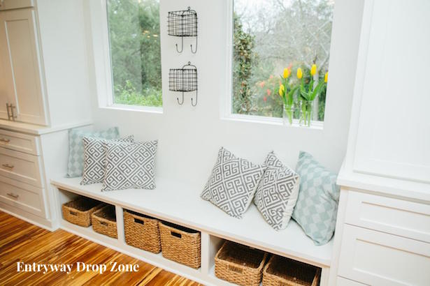 ... entryway drop zones and uses storage bins, storage furniture, and