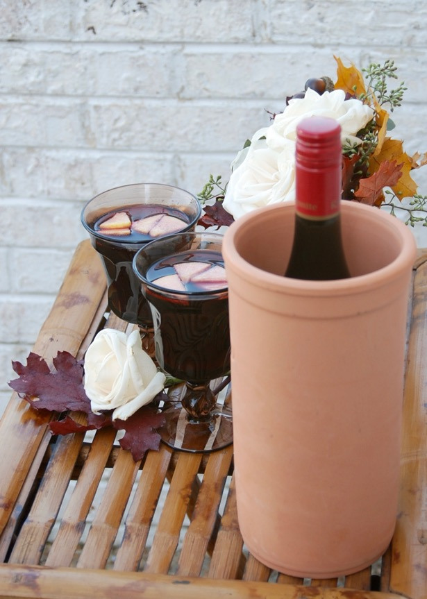 Try this autumn sangria made with apple, rhubarb, ginger shrub and red wine.
