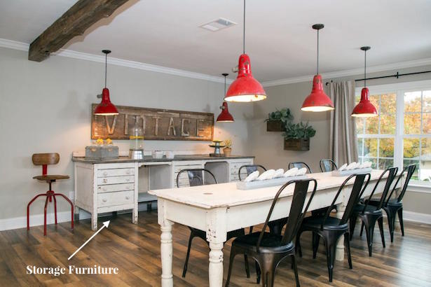 A 4 step formula to open concept decorating using lessons from Fixer Upper