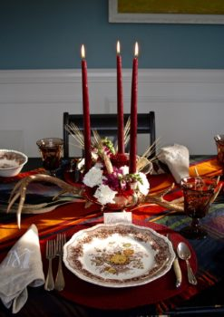 A Rustic Thanksgiving Table is warm and inviting as family and friends gather for the holiday.