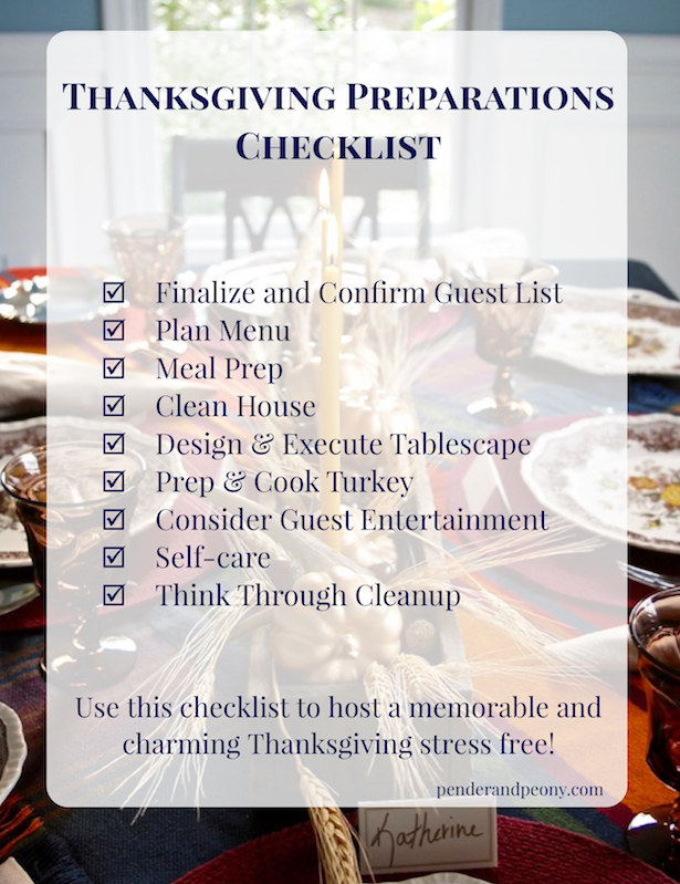 Host Thanksgiving stress free with this checklist full of helpful tips and tricks.