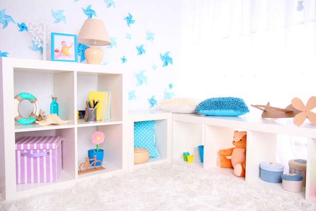 Organize your kids' clutter with the right storage solutions.