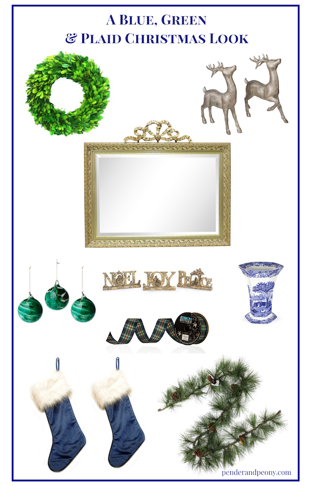 Try a new Christmas theme this year like blue, green & plaid! Get my blue, green & plaid Christmas look here.