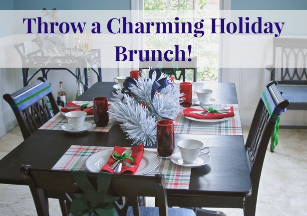 Throw a charming holiday brunch party! Get inspiration, party ideas, recipes and tablescape ideas on P&P.
