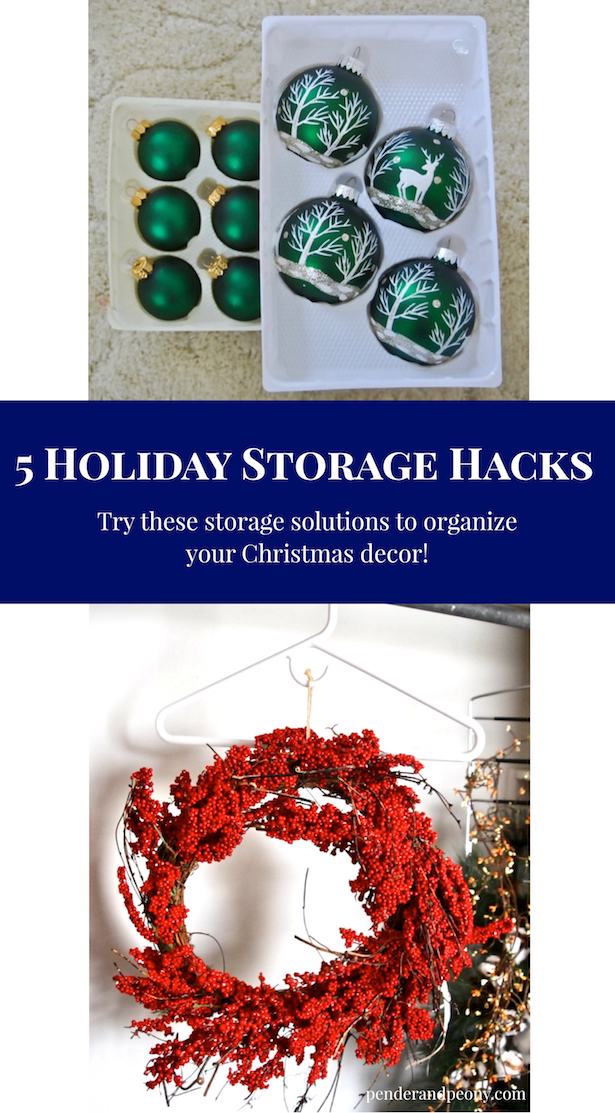 Try these 5 holiday storage hacks to organize your Christmas decor!