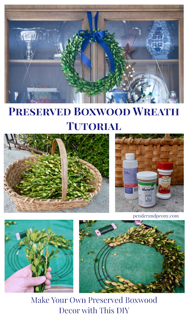 Preserved boxwood wreath tutorial - make your own boxwood decorations with this DIY