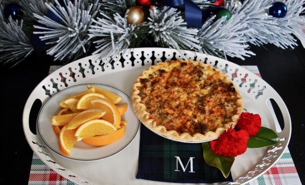 Sausage quiche 1979 Southern Living recipe - perfect for Christmas brunch