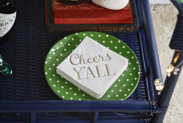 Southern Christmas cocktail napkins