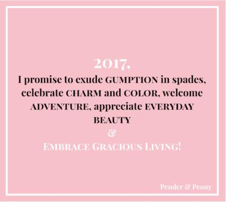 2017 Resolutions Pender & Peony