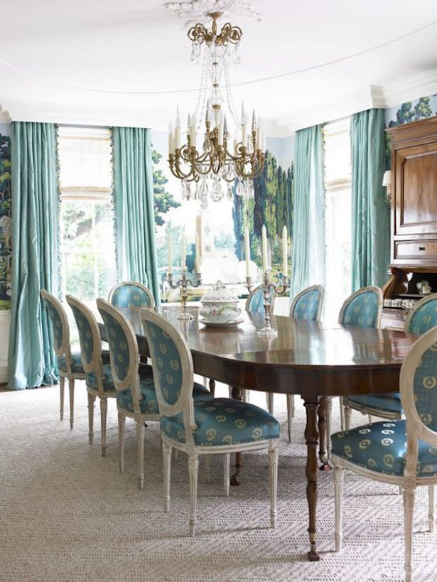 gracious traditional dining room