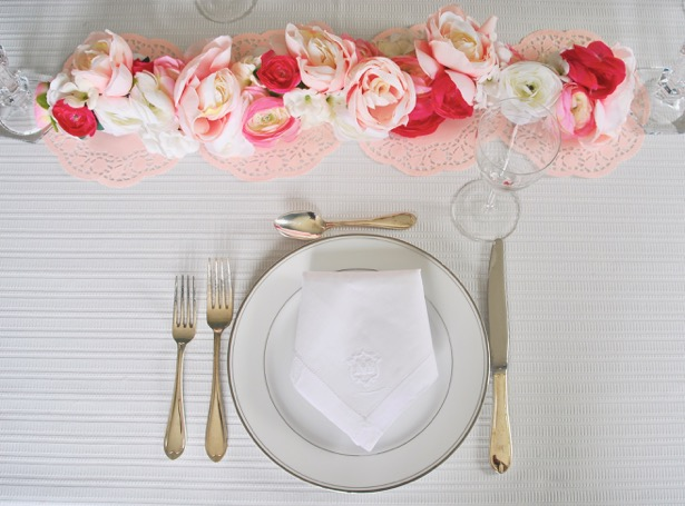 Galentine's Day brunch place setting