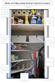 Organize your utility closet with these simple tips! Transform this neglected space into a productive zone that makes cleaning easier!
