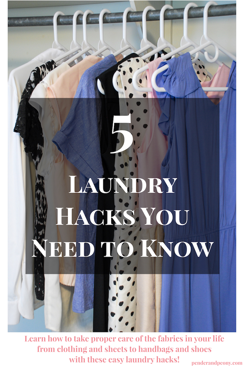 5 laundry hacks you need to know to take better care of your clothing and make doing laundry easier!