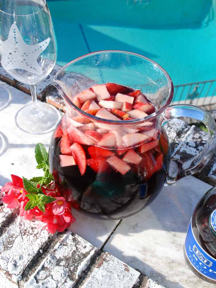 As the Southern heat lingers celebrate the dog days of summer with this refreshing red sangria!
