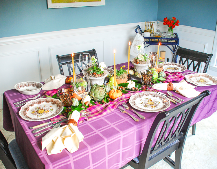 Gather friends and family around this autumn harvest table to celebrate the bounty of the season!