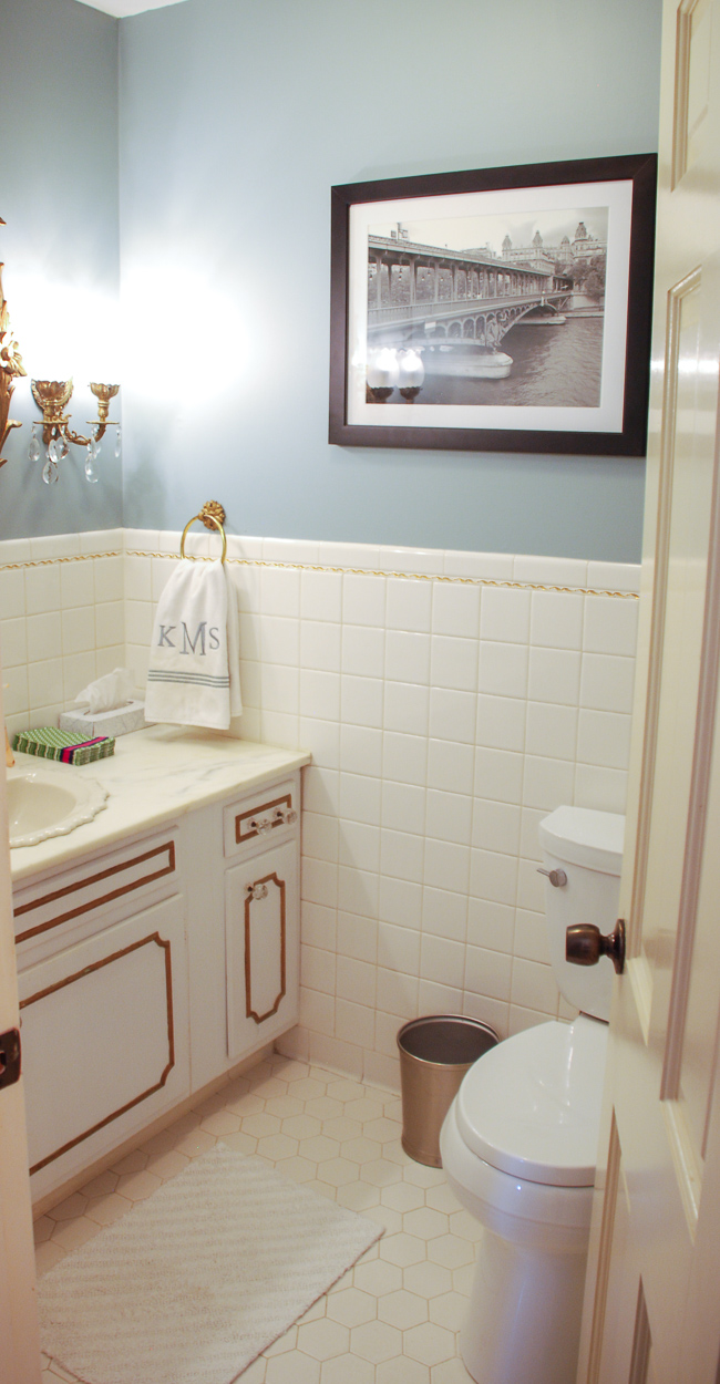 Powder Room Makeover - Pender & Peony - A Southern Blog