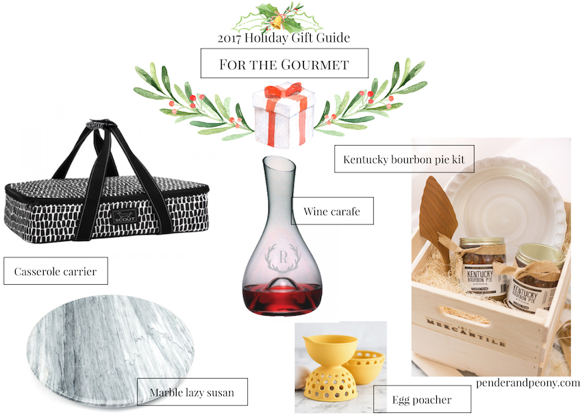 Check off every name on your Christmas list with Pender & Peony's 2017 Holiday Gift Guide! These 7 curated gift guides cover every personality from the gourmet to the decorista.