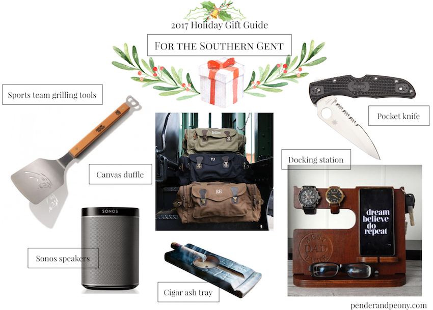 Check off every name on your Christmas list with Pender & Peony's 2017 Holiday Gift Guide! These 7 curated gift guides cover every personality from the bibliophile to the Southern gent.