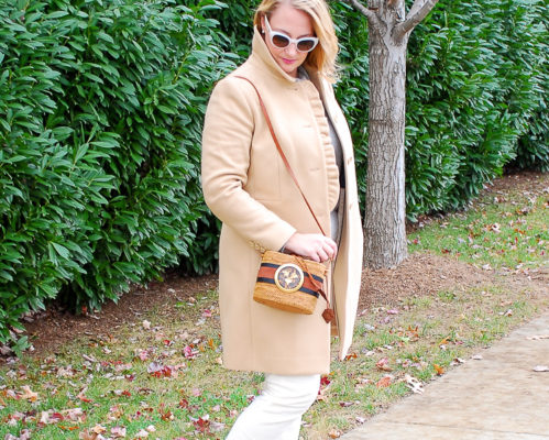 Soft white + gray + camel + leopard print = my favorite winter neutrals!