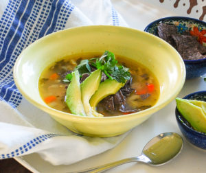 Winter isn't over yet! Be prepared for those unexpected snow flurries and freezing temps with this yummy crockpot tortilla soup made with chicken and white beans.
