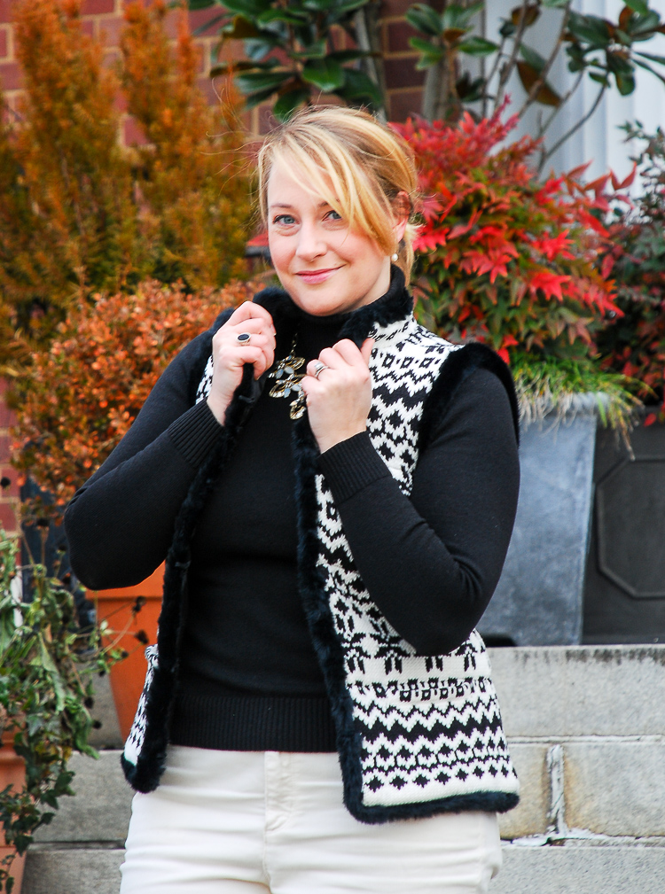 Fair isle sweater vest from talbots
