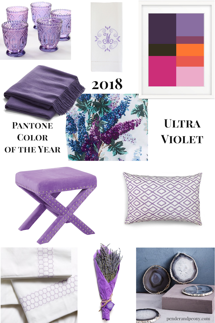 Fans of purple hues rejoice and follow these 10 rules to decorate with the 2018 Pantone Color of the Year - Ultra Violet