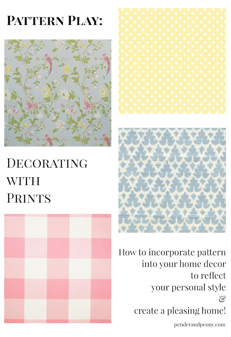 Decorating with prints - how to incorporate pattern into your home decor to reflect your personal style and create a pleasing home.