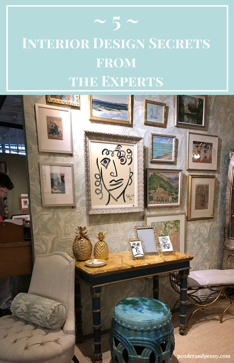 "5 Designers reveal their best interior design secrets to creating a ""sense of place"" at the Nashville Antiques & Garden Show panel lecture. #interiordesign #decoratingtips"
